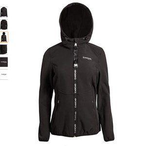 BEBE SPORT Women's Fleece Lined Soft Shell Jacket